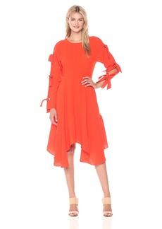 BCBG Max Azria BCBGMax Azria Women's Cicely Woven Dress with Tie Sleeve Detail