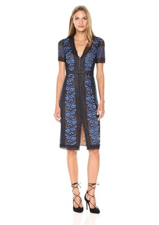 BCBG Max Azria BCBGMax Azria Women's Cinthya Woven Short Sleeved Lace Dress