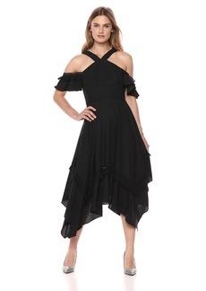 BCBG Max Azria BCBGMax Azria Women's Cold Shoulder Handkerchief Dress