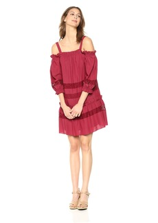 BCBG Max Azria BCBGMax Azria Women's Cold Shoulder Lace Insert Dress  L