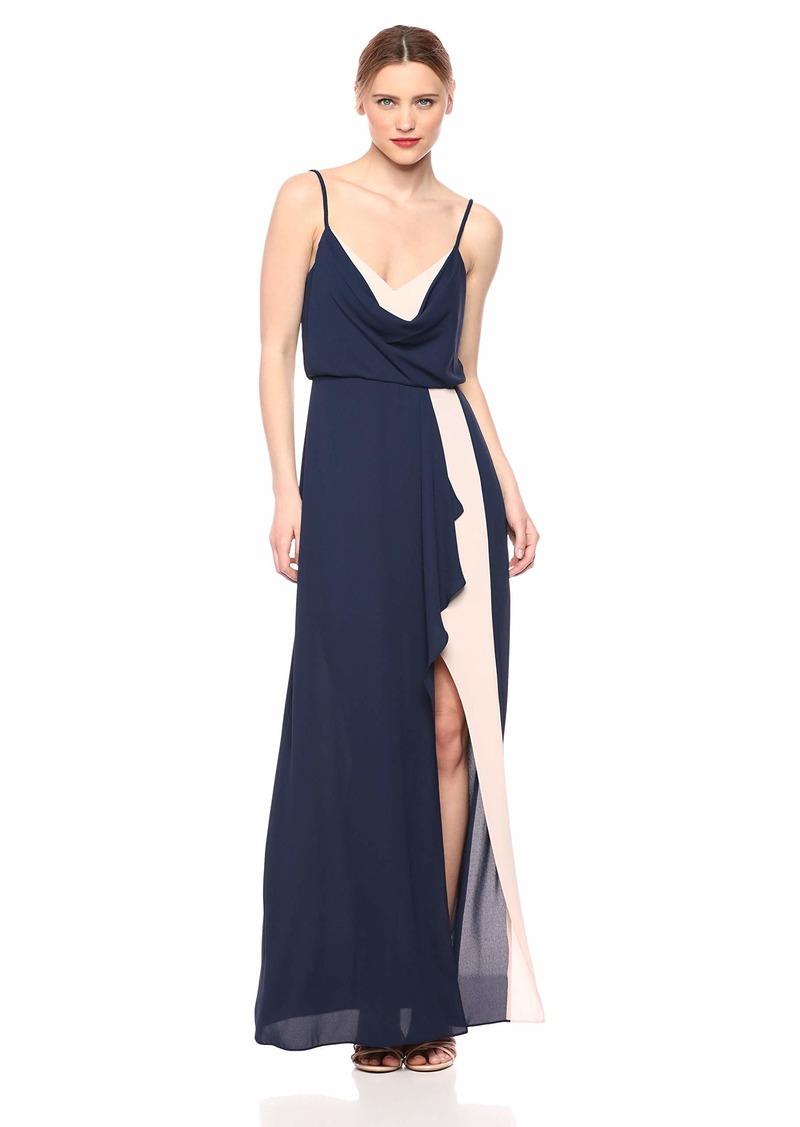 BCBG Max Azria BCBGMax Azria Women's Colorblocked Draped Gown