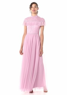 BCBG Max Azria BCBGMax Azria Women's Colorblocked Lace and Tulle Gown