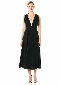 BCBG Max Azria BCBGMax Azria Women's Crisscross Back Satin Dress  S