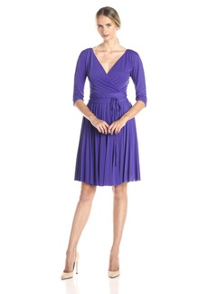 BCBG Max Azria BCBGMax Azria Women's Cruz The Mid Sleeve Pleated Dress