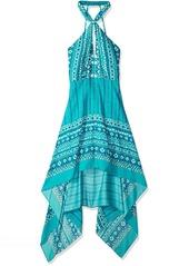 BCBG Max Azria BCBGMax Azria Women's Danela Woven Crossover Neck Scarf Printed Dress