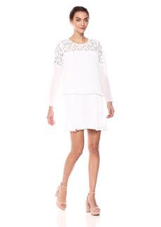 BCBG Max Azria BCBGMax Azria Women's Darryl Lace-Trimmed a-Line Dress  L