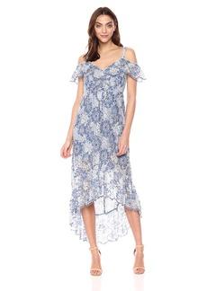 BCBG Max Azria BCBGMax Azria Women's Debbie Asymmetrical Lace Midi Dress  XS