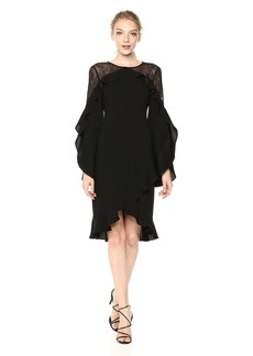 BCBG Max Azria BCBGMax Azria Women's Delaney Lace-Inset Dress
