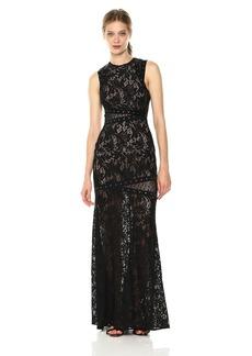 BCBG Max Azria BCBGMax Azria Women's Dominique Knit Dress with Lace Illusion and Grommet Details