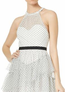 BCBG Max Azria BCBGMax Azria Women's Dot Ruffle Halter Dress Off