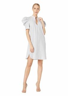 BCBG Max Azria BCBGMax Azria Women's Draped Shoulder Ikat Shirt Dress  XS