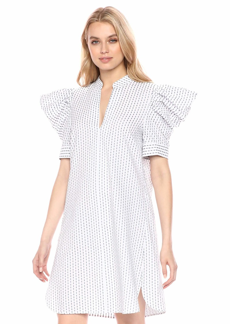 BCBG Max Azria BCBGMax Azria Women's Draped Shoulder Ikat Shirt Dress  XS