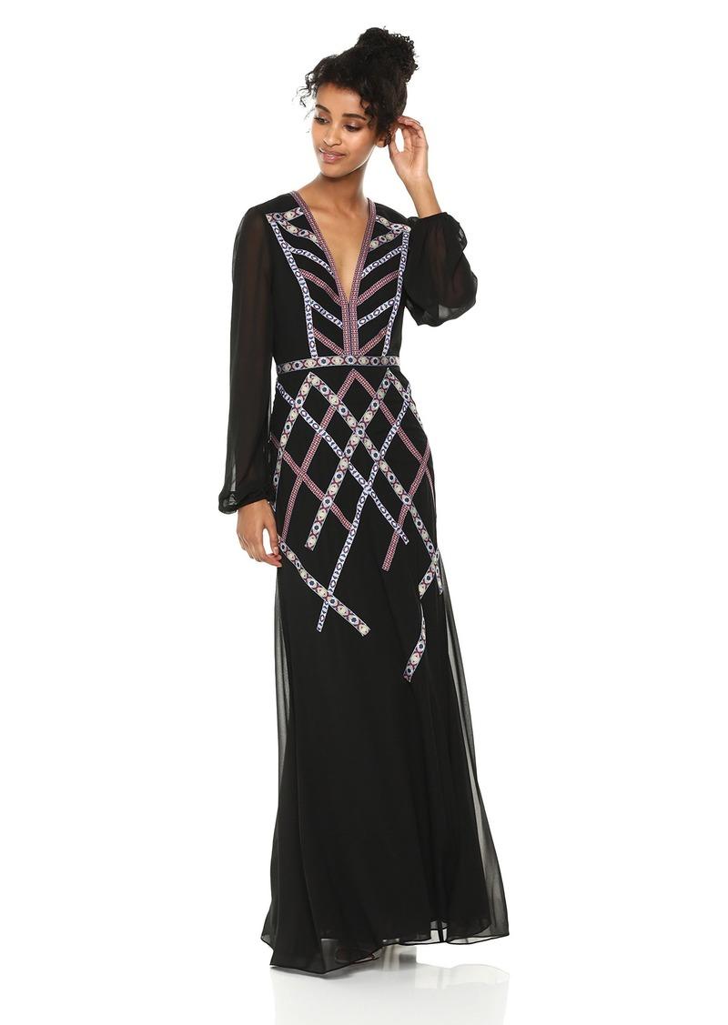BCBG Max Azria BCBGMax Azria Women's Embroidered Georgette Gown