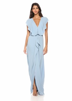 BCBG Max Azria BCBGMax Azria Women's Evette Woven Ruffle Dress SHADOWBLUE
