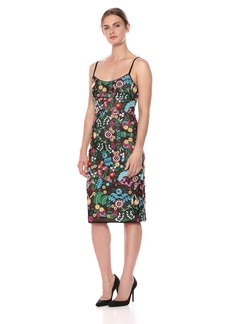 BCBG Max Azria BCBGMax Azria Women's Floral Embroidered Bustier Midi Dress