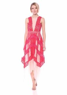 BCBG Max Azria BCBGMax Azria Women's Floral Lace Handkerchief Dress
