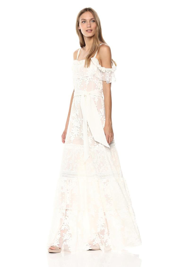 BCBG Max Azria BCBGMax Azria Women's Floral Off The Shoulder Maxi Dress  S