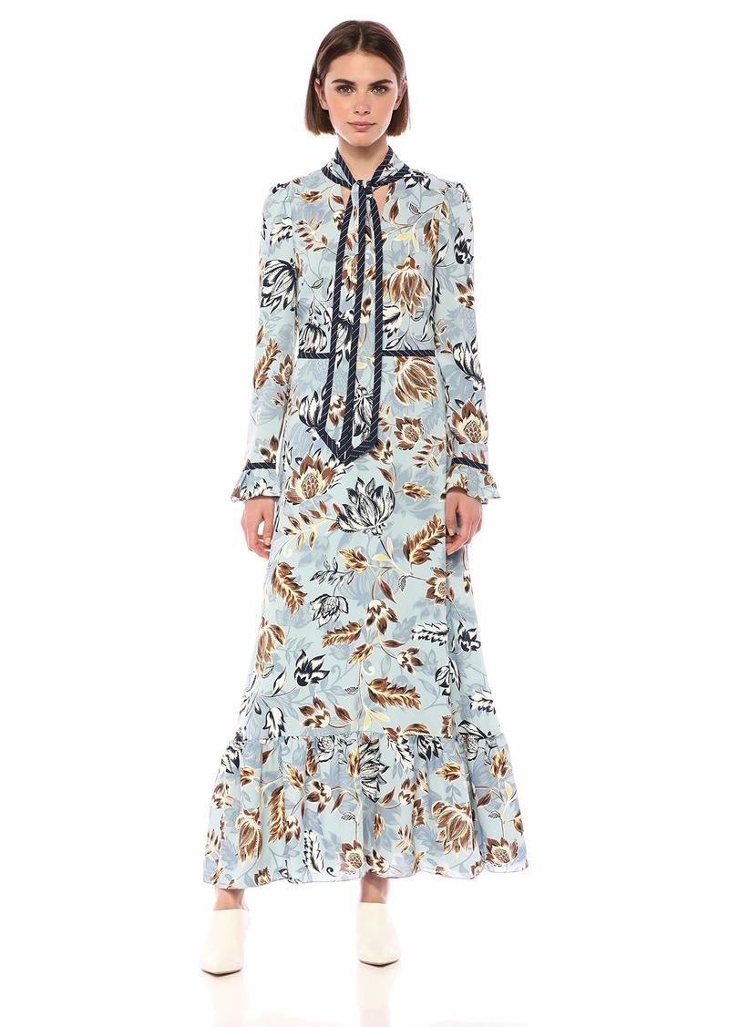 BCBG Max Azria BCBGMax Azria Women's Floral Ruffled Maxi Dress