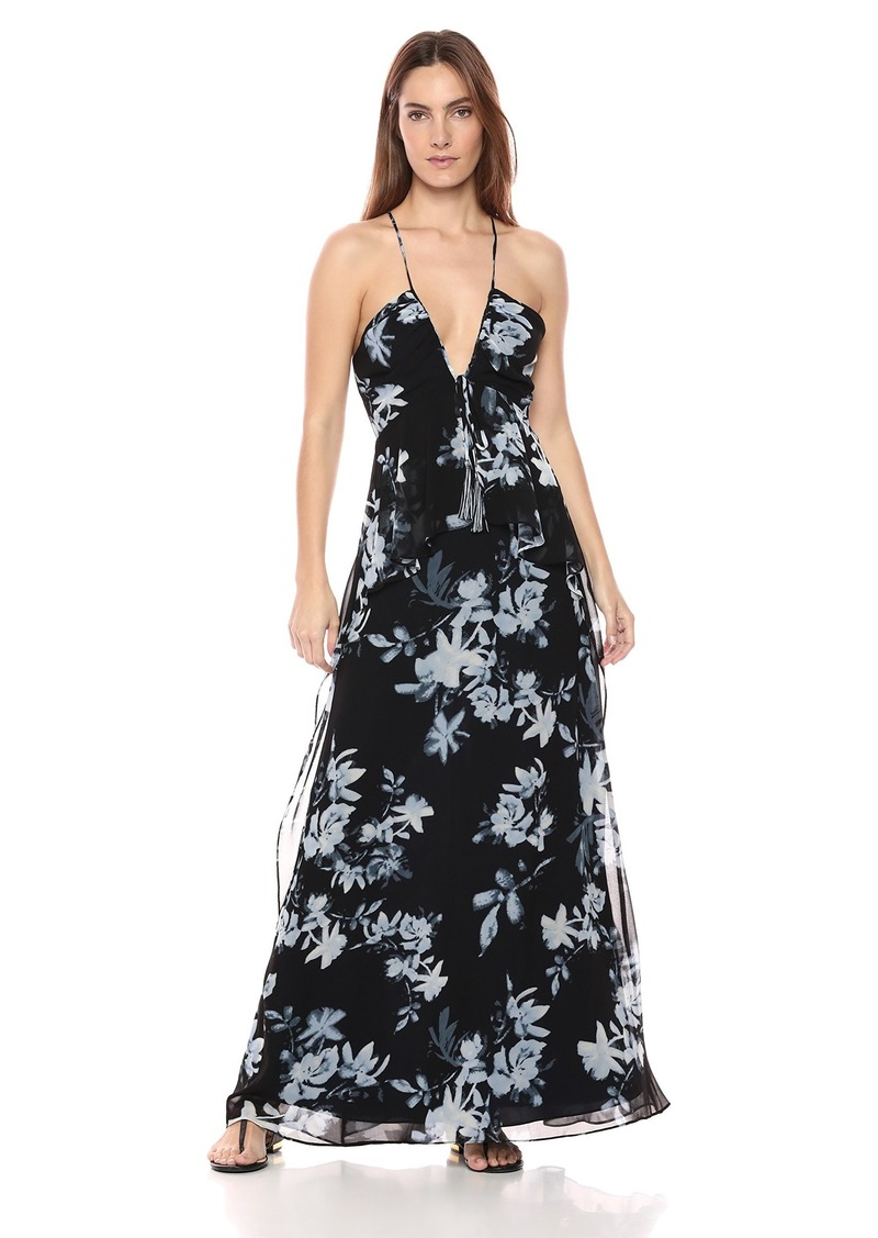 BCBG Max Azria BCBGMax Azria Women's Floral Sleeveless Halter Maxi Dress