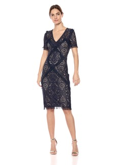 BCBG Max Azria BCBGMax Azria Women's Floral Stretch Lace Sheath Dress  M