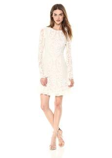 BCBG Max Azria BCBGMax Azria Women's Guinevere Knit Velvet Ruffled Dress Off  M