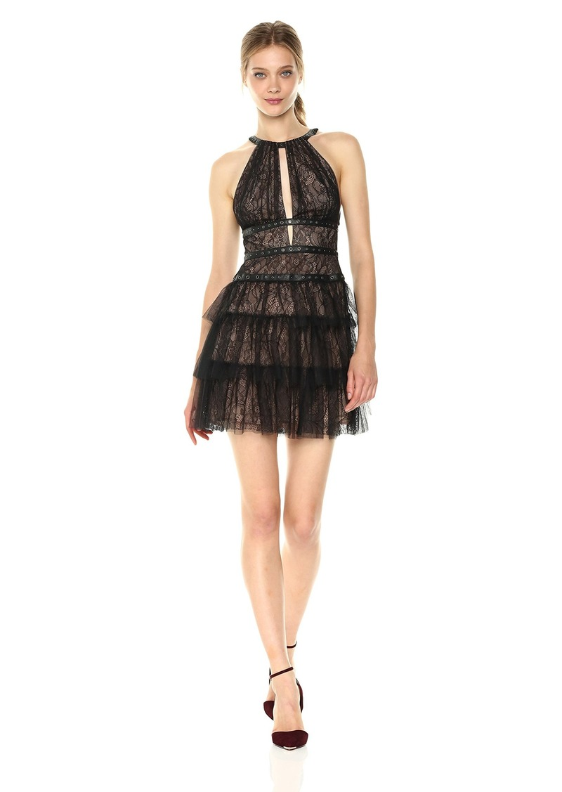 BCBG Max Azria BCBGMax Azria Women's Hilaria Woven Tiered Dress with Grommet Details
