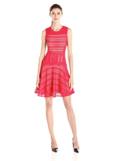 BCBG Max Azria BCBGMax Azria Women's Jalina Lace-Blocked Sleeveless Dress