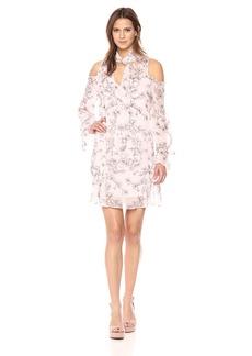 BCBGMax Azria Women's Janice Cold-Shoulder a-Line Dress  M