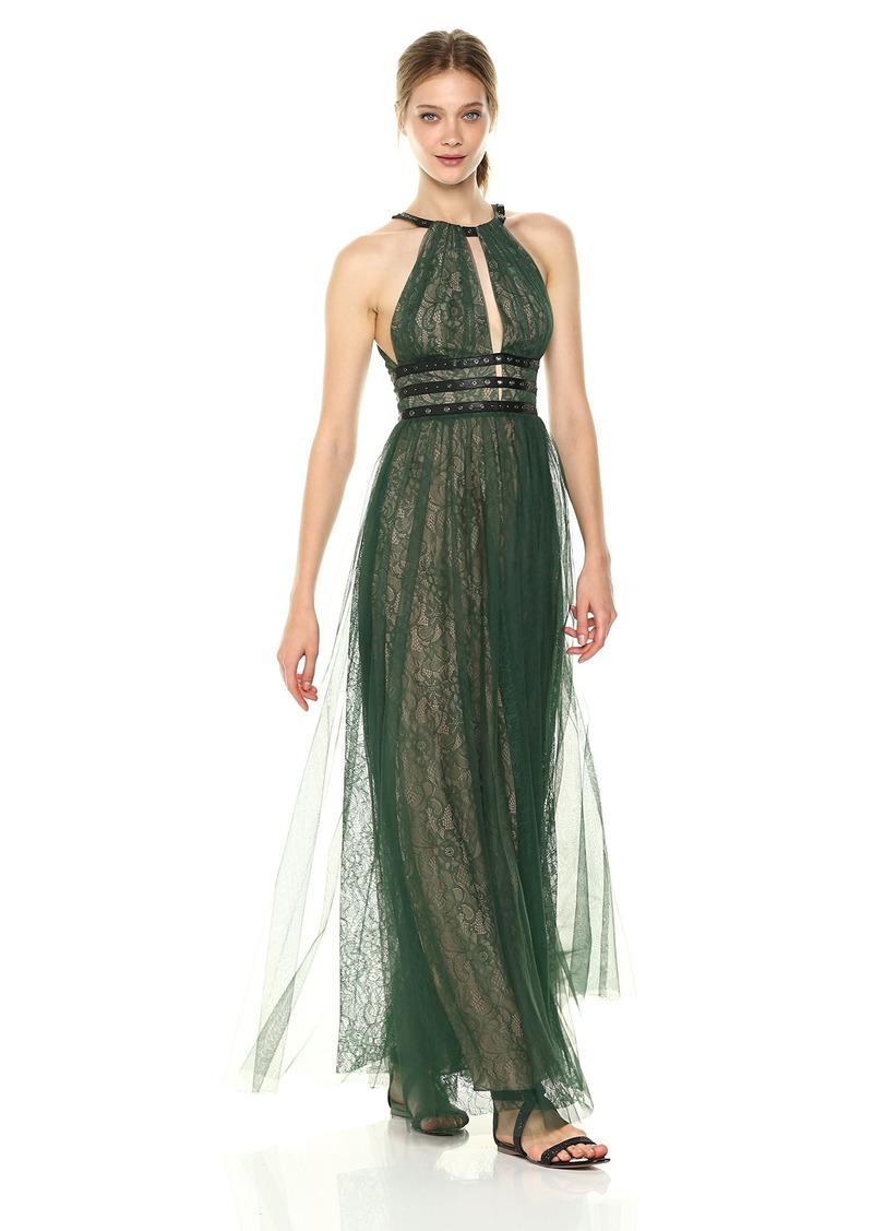 870b1559484 BCBG Max Azria BCBGMax Azria Women s Jasmina Knit Halter with Lace Illusion  and Grommet Details