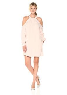BCBG Max Azria BCBGMax Azria Women's Josephine Cold Shoulder Halter Woven Dress  XS