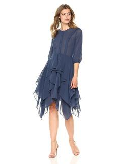 BCBGMax Azria Women's Jovita Asymmetrical Ruffle Dress  M