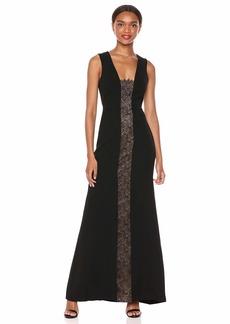 BCBG Max Azria BCBGMax Azria Women's Lace Inset Flared Gown