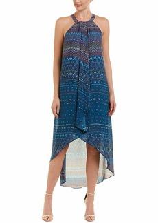 BCBG Max Azria BCBGMax Azria Women's Lanna Drapey High-Low Halter Woven Evening Dress  XS