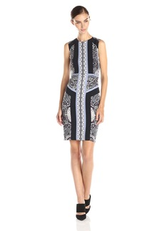 BCBG Max Azria BCBGMax Azria Women's Lauren Blocked Scarf Print Sleeveless Dress