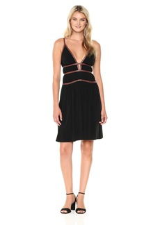 BCBG Max Azria BCBGMax Azria Women's Lillie V-Neck Strap Detail Knit Dress