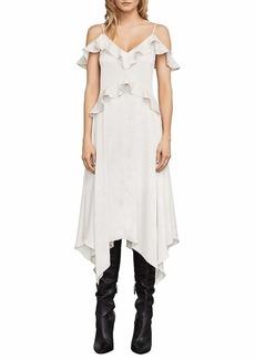 BCBG Max Azria BCBGMax Azria Women's Lissa Asymmetrical Slip Dress LTSTONE M