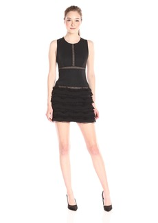 BCBG Max Azria BCBGMax Azria Women's Maile Ruffle Hem Sleeveless Cocktail Dress