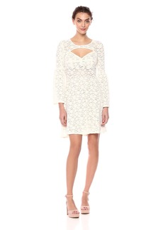 BCBG Max Azria BCBGMax Azria Women's Medina Floral Lace A-Line Dress  L