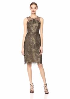 BCBG Max Azria BCBGMax Azria Women's Metallic Lace Sheath Dress