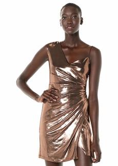 BCBG Max Azria BCBGMax Azria Women's Metallic One Shoulder Sheath Dress  M