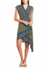 BCBG Max Azria BCBGMax Azria Women's Mixed Print Faux Wrap Dress  L