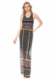 BCBG Max Azria BCBGMax Azria Women's Mixed Print Lace Maxi Dress  L