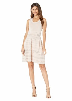 BCBG Max Azria BCBGMax Azria Women's Mixed Stitch Flare Dress  M