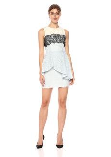 BCBG Max Azria BCBGMax Azria Women's Noah Asymmetrical Lace Peplum Dress