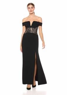 BCBG Max Azria BCBGMax Azria Women's Off-The-Shoulder Lace Corset Gown