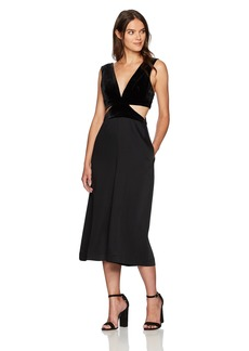 BCBG Max Azria BCBGMax Azria Women's Olya Woven Jumpsuit with Side Cutouts  S