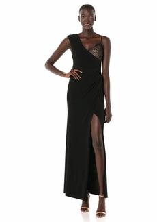 BCBG Max Azria BCBGMax Azria Women's One Shoulder Lace Inset Gown  S