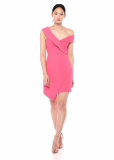 BCBG Max Azria BCBGMax Azria Women's One Shoulder Satin Sheath Dress