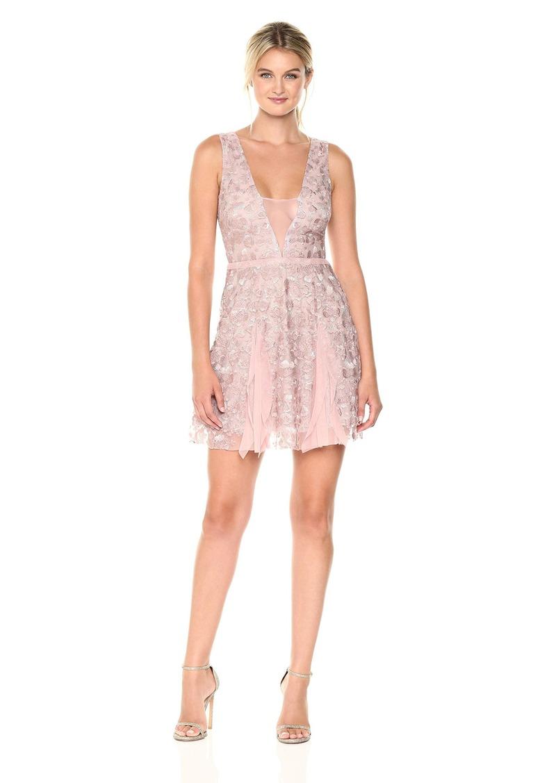 BCBG Max Azria BCBGMax Azria Women's Pheobe Knit Ruffled Dress with Back Cut Out