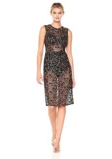 BCBG Max Azria BCBGMax Azria Women's Riley Woven Metallic Illusion Dress